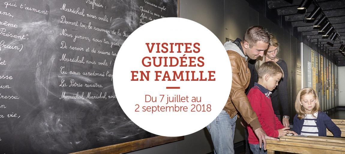 Visites guidées en famille du 7 juillet au 2 septembre